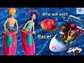 JET SKI ! Miraculous Ladybug - Big Pool - Water Scooter FLOATIES ! Boat Race Season 2 Doll Episode
