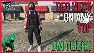 HOW TO GET *CEO VEST ON ANY TOP* DM GLITCH! 1.40 (GTA 5 ONLINE CLOTHING GLITCHES)