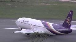 Thai Airways 737-400 take off Koh Samui การบินไทย (HS-TDK)