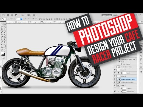 How to Photoshop design and build a Cafe Racer / Scrambler motorcycle