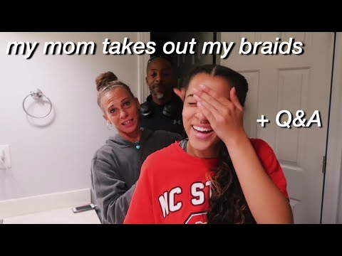 my mom takes out my feed in braids + Q&A