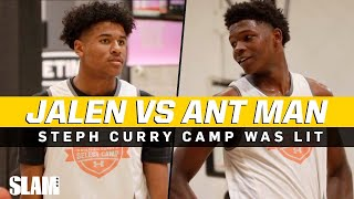 Jalen Green vs Anthony Edwards 😈 Steph Curry Camp was LIT 🔥🍿