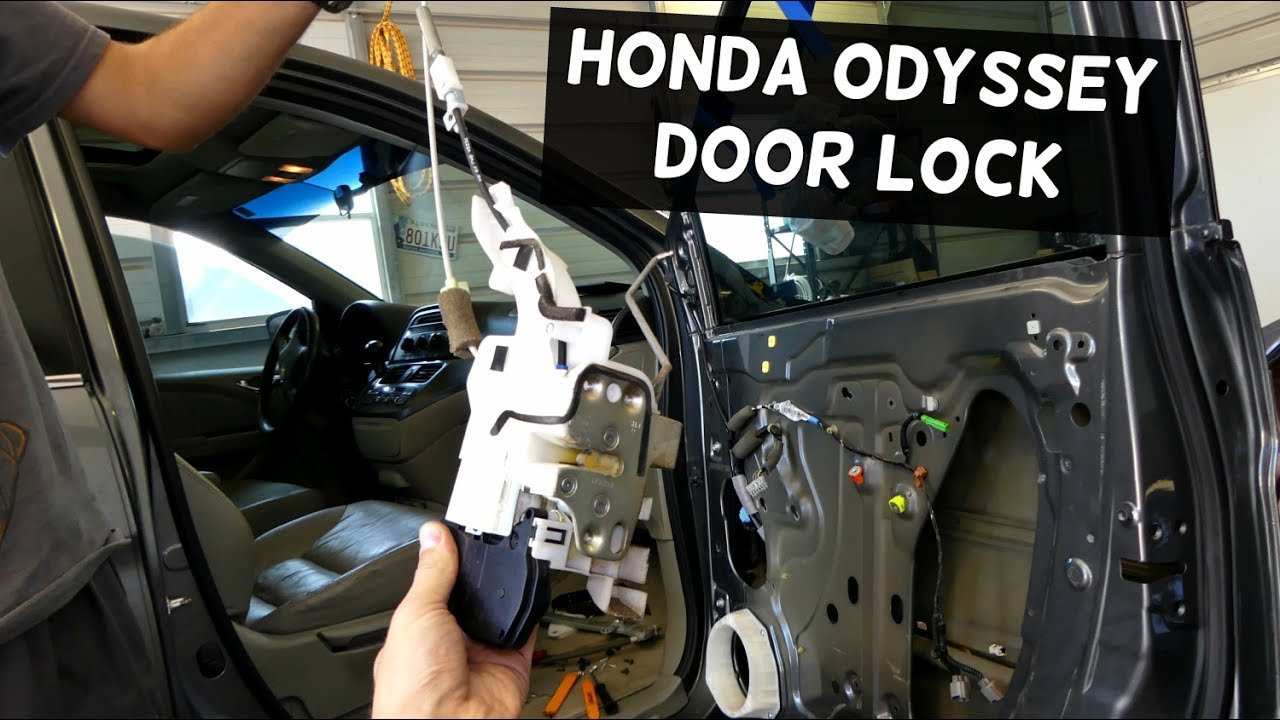 Honda Odyssey Door Lock Actuator Removal Replacement Youtube