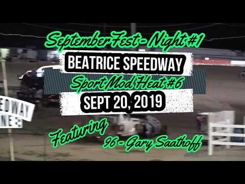 09/20/2019 Beatrice Speedway SeptemberFest Sport Mod Heat #6