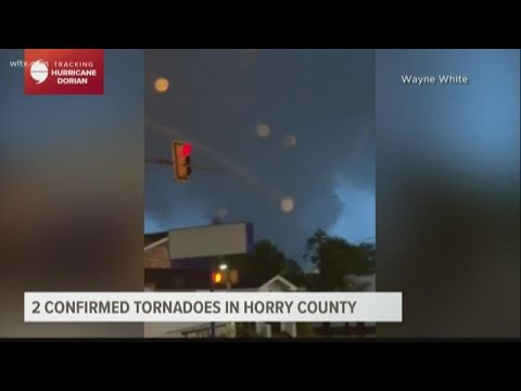 Two tornadoes touched down in Horry County