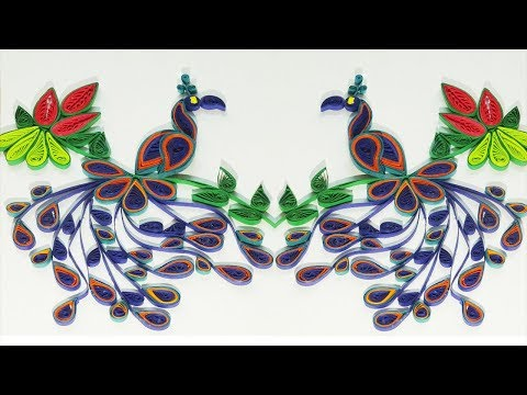 DIY || Quilling Peacock Tutorial || Quill Paper Peacock Making || Quill Tools || Siri Art&Craft ||