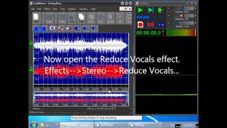 How to Reduce Vocals Using GoldWave