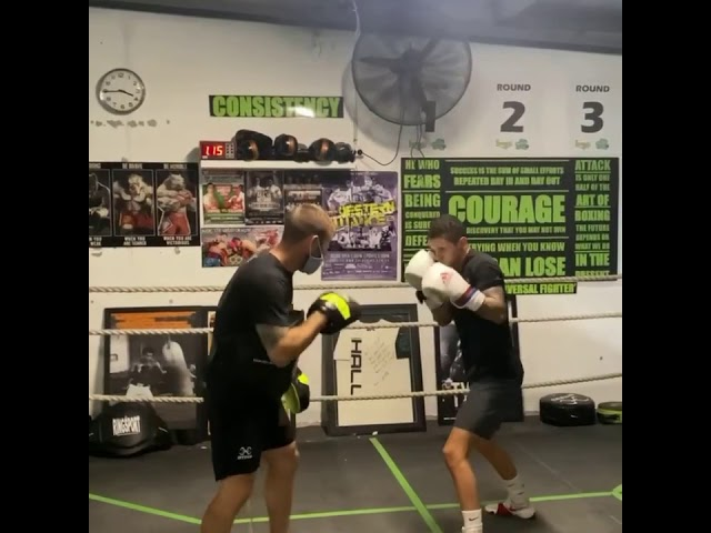 Boxing Padwork with Australian Champion