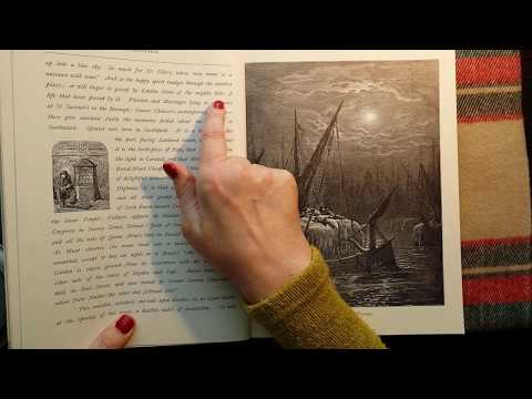 ASMR | Soft Spoken Reading - Old London A Pilgrimage, Illustrated - Page Turning Sounds