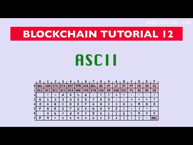 Blockchain tutorial 12: ASCII
