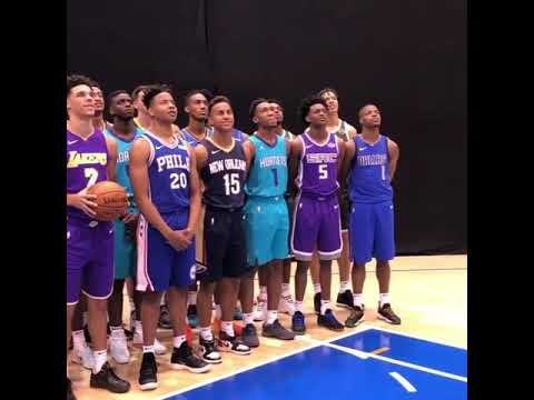 131a43d223d2 NBA Rookie Class of 2017 Sport New Nike Jerseys at Photo Shoot - YouTube