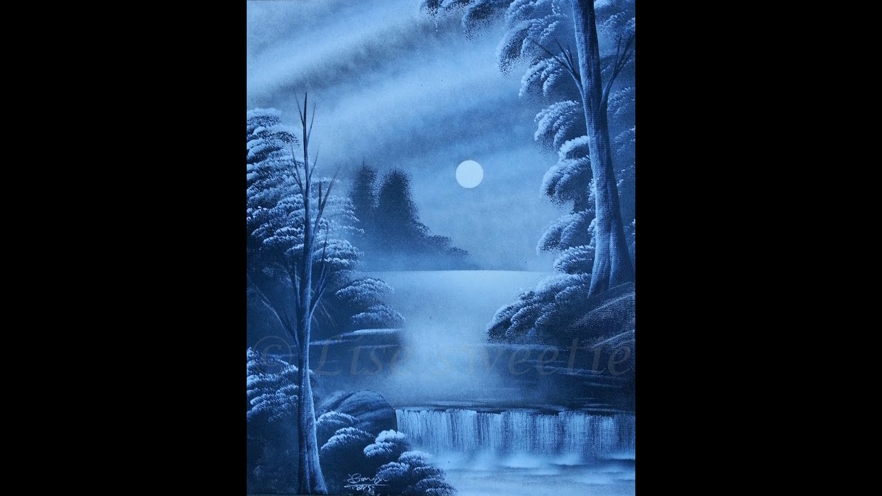 Spray Paint Art - Amazing Black And White Forest Painting