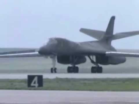 B-1B Lancer Dropping Cluster Bombs