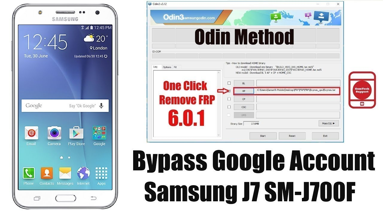 Bypass All Samsung models FRP remove with Odin new method