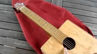 Homemade Mini Winebox Guitar