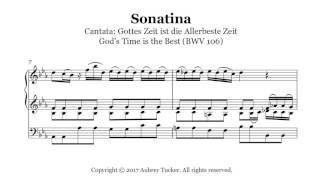 Organ: Bach Sonatina - Gottes Zeit ist die Allerbeste Zeit (God's Time is the Best) (BWV 106)