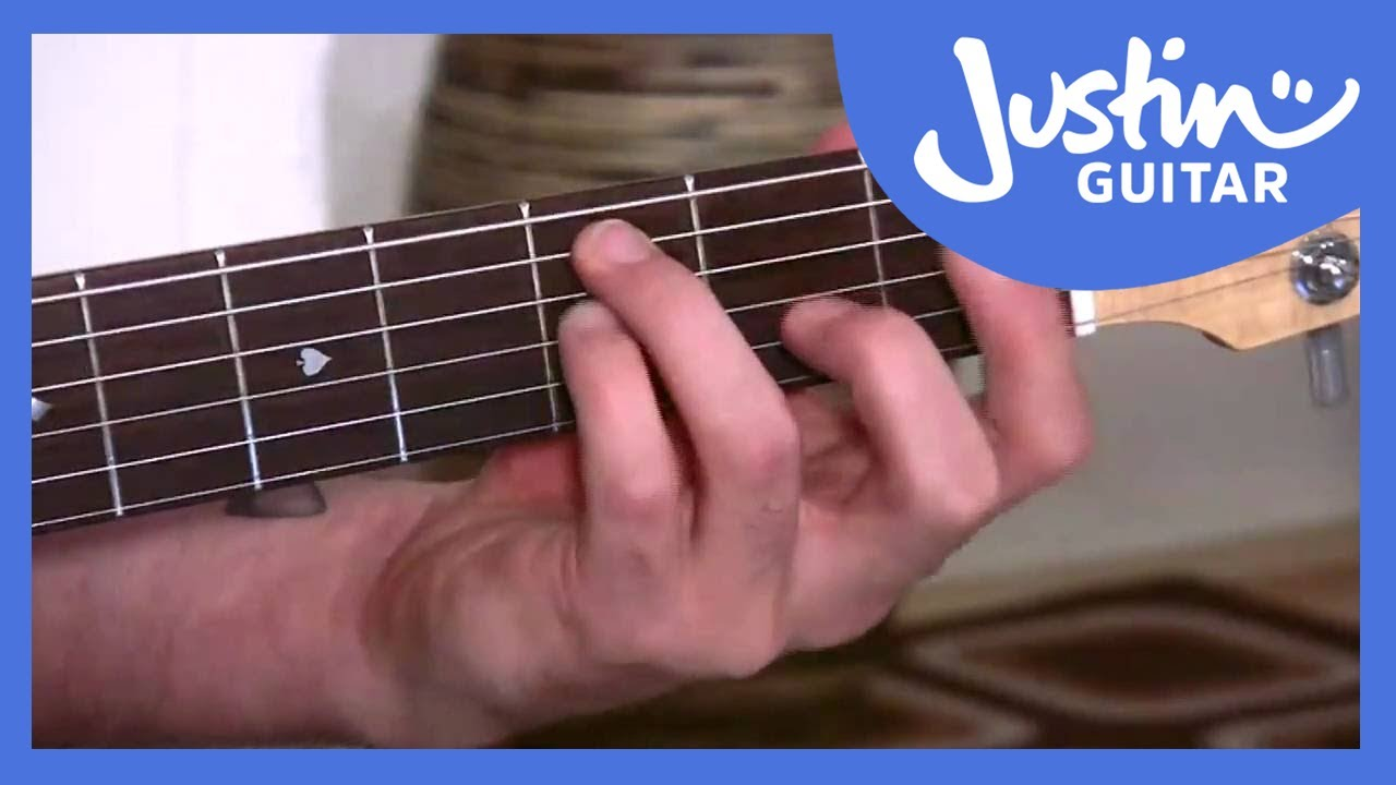 The Dreaded F Chord   JustinGuitar.com