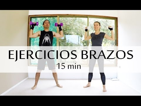 Ejercicios para adelgazar los brazos y espalda | 15 min con Elena Malova