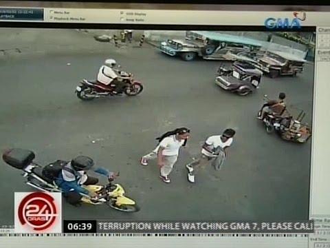 24 Oras: Kuha ng CCTV sa dalawang suspek sa brutal na pagpatay sa mag-ina, inilabas