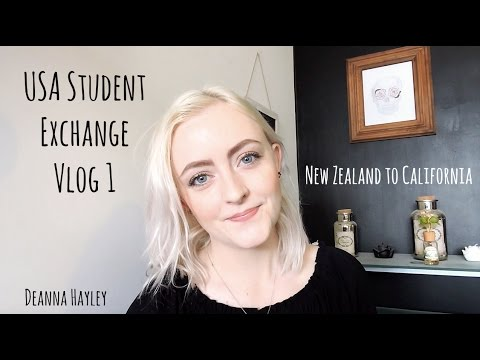 USA Exchange Vlog 1 ♡ New Zealand to California