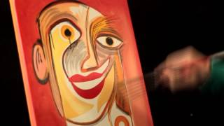 HOW TO DO SHADING TECHNIQUES WITH ACRYLIC PAINTS Cubist Portrait PICASSO style
