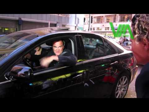 Quentin Tarantino tries to find parking at the Million Dolla
