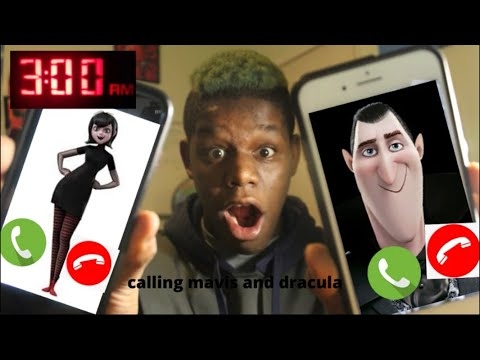 I FaceTime Mavis and Dracula from hotel Transylvania at 3AM!!!! * they were not happy at me!😬😱  