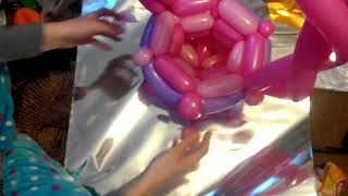 Как сделать с шаров шдм корзину с цветами
