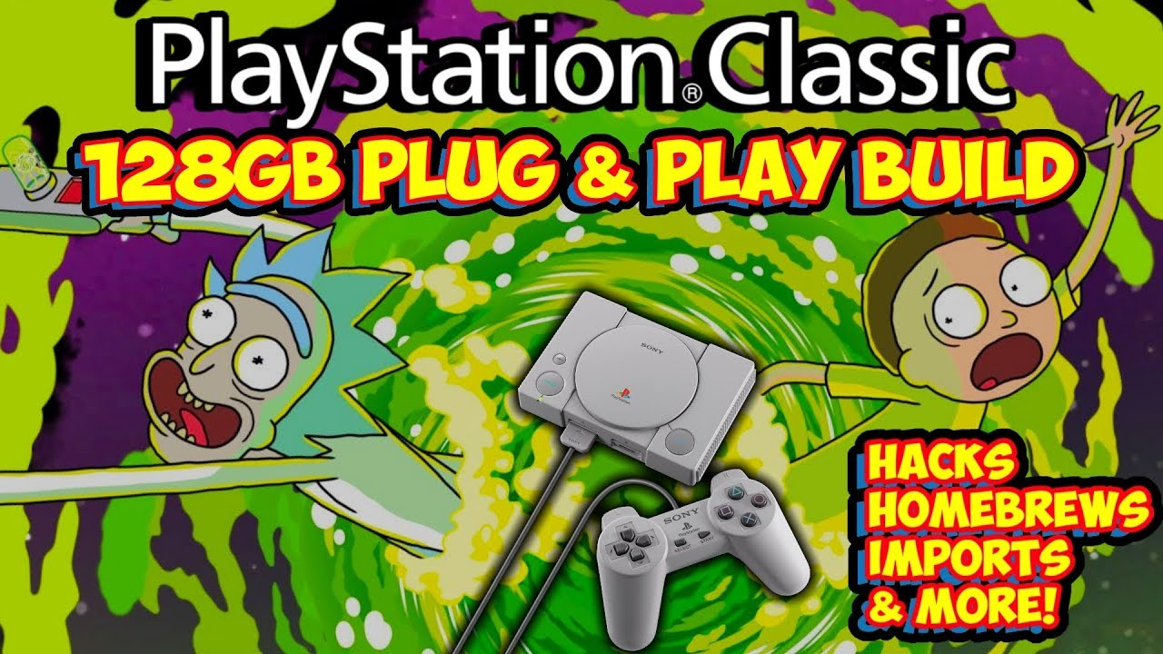 New 128gb PlayStation Classic Hack Build! Homebrews, Imports