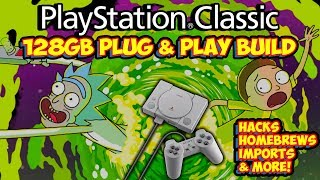 New 128gb PlayStation Classic Hack Build! Homebrews, Imports, Hacks & More!