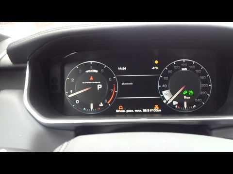 New Range Rover Sport салон, электронные приборы interior reviev