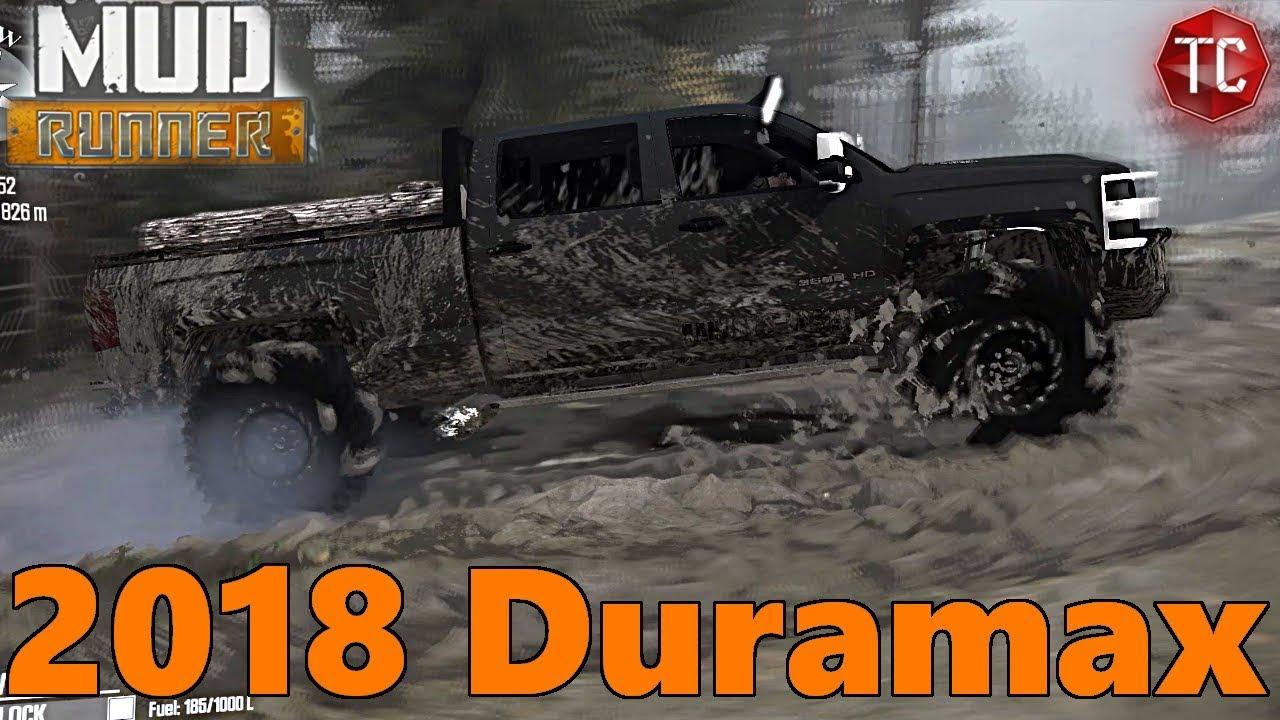 spintires mud runner new 2018 chevy 3500 duramax best work truck youtube. Black Bedroom Furniture Sets. Home Design Ideas