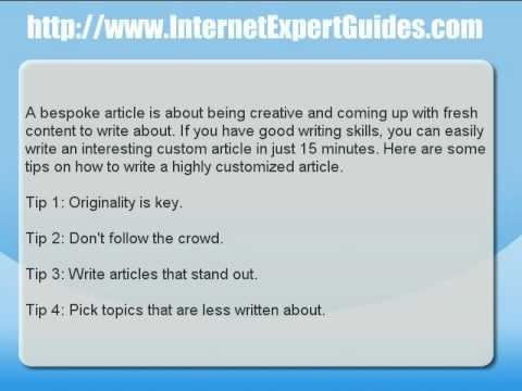 Custom essay articles