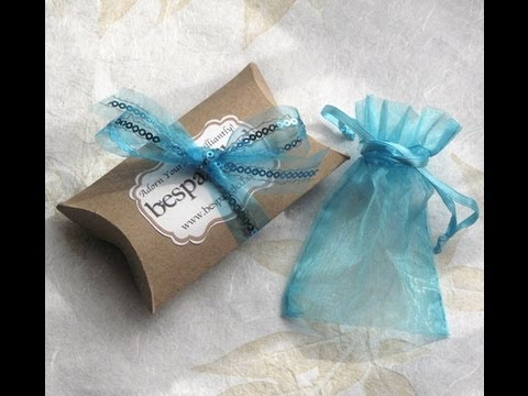 How to Make a Pillow Box Tutorial - DIY Gift Boxes - handmade packaging, great for gifts and jewelry