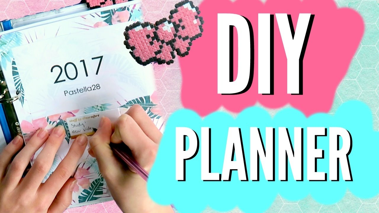 image regarding Diy Planner Pages named Do it yourself PLANNER For The Clean Calendar year 2017!! Do it yourself Planner, Include, Web pages added!