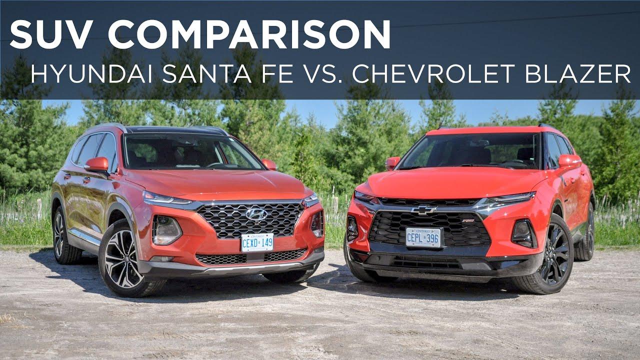 Suv Comparison 2019 Chevrolet Blazer Vs 2019 Hyundai Santa Fe