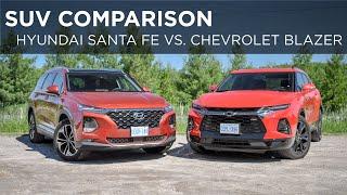 2019 Hyundai Santa Fe vs. 2019 Chevrolet Blazer | SUV Comparison | Driving.ca thumbnail