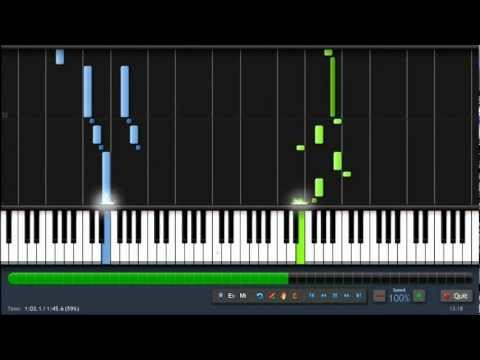Pink Panther Theme - Piano Tutorial (100%) Synthesia + Sheet Music