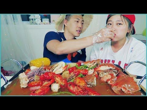 Seafood #2 - CAJUN SEAFOOD BOIL MUKBANG! with boyfriend