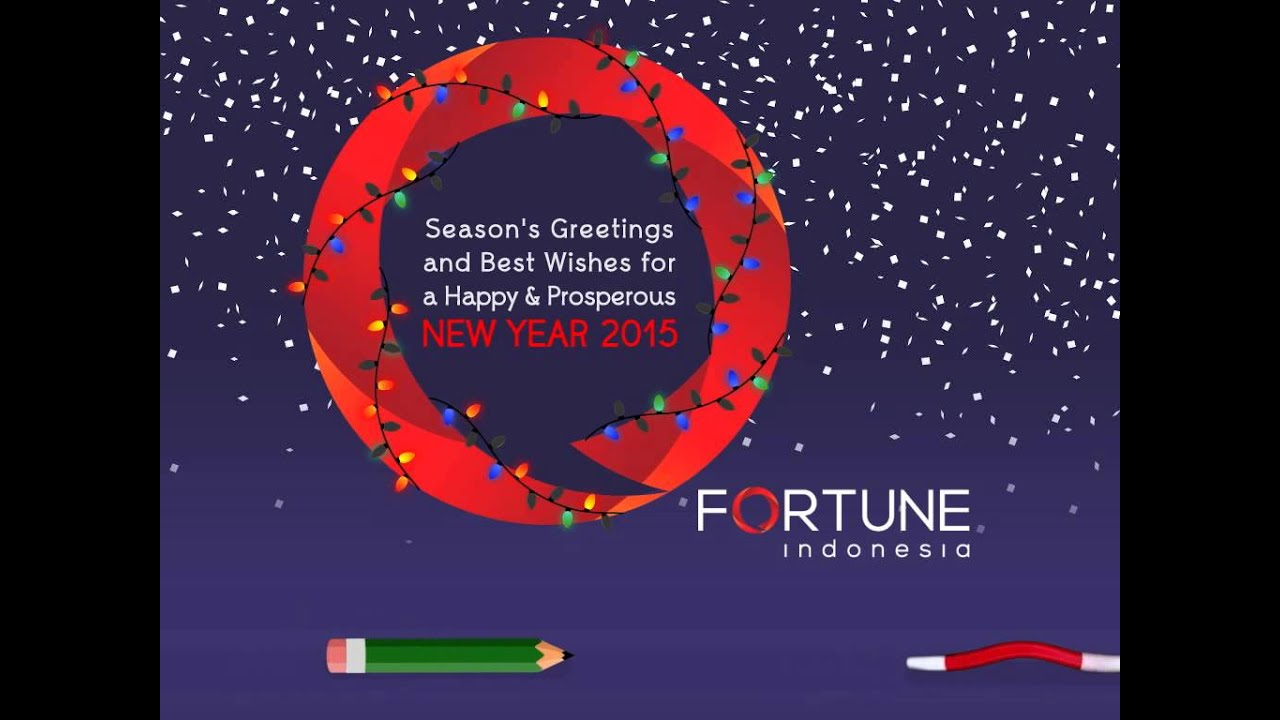 E Card Seasons Greetings New Year 2015 By Fortune Indonesia