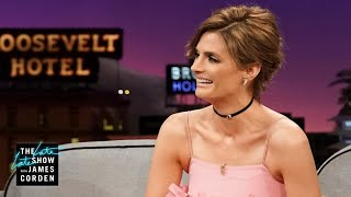 Stana Katic Teaches James & Paul Scheer to Speak Gorilla