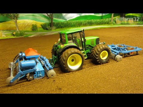 RC TRACTOR with haevy machinery - Awesome rc toy action