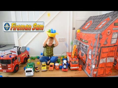 NEW Fireman Sam Ball Pit Numbers And Counting Feuerwehrmann Sam Show
