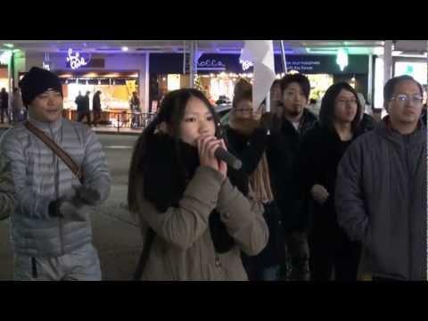 【JC】日韓国交断絶を訴える中学生現る! @京都