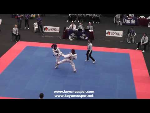 46kg Worthington (GBR) vs (BIH) Karsic (19th Europen Junior TKD Championships)