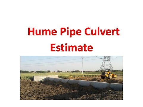 Hume Pipe Culvert Estimate