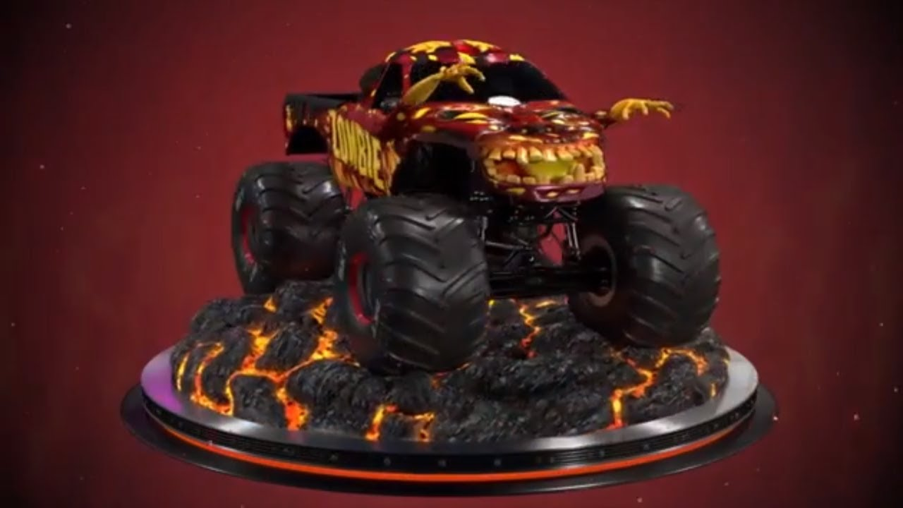 Fire Zombie Monster Jam Truck 360 Turntable Views Youtube
