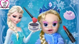 Куклы видео Беби Элайв Эльза Мультик Холодное Сердце Пупсик Игрушки для девочек