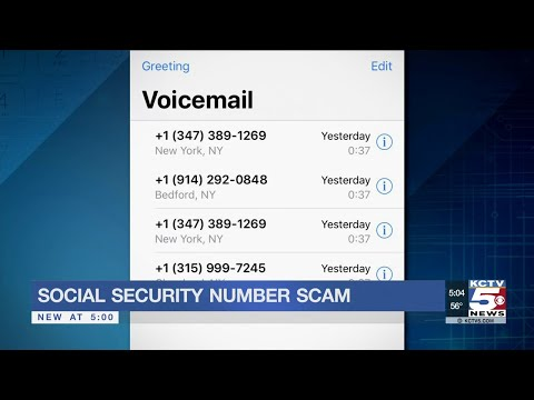 Social security number robocall scam