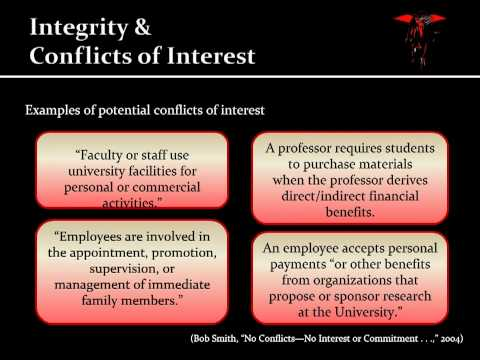 a report on the conflict of integrity An ethical journalist acts with integrity the society declares these four principles as the foundation of ethical journalism and encourages their use in its practice.